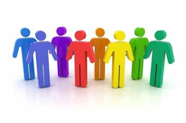 Row of People