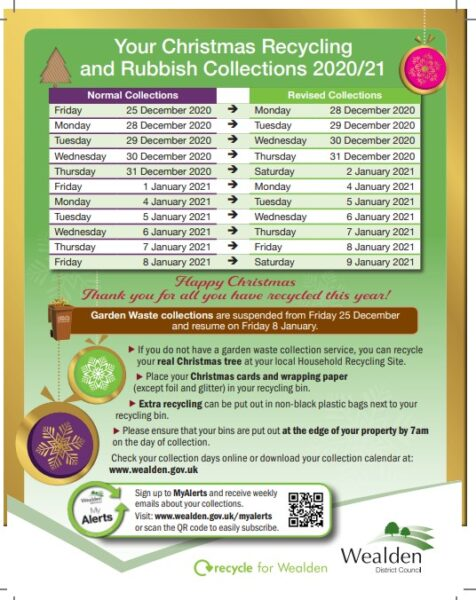 Waste and Recycling Christmas Collections