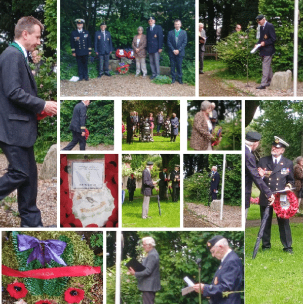 Deputy Mayor laying a wreath at Canada Green for the Royal British Legion Canadian Service of Commemoration